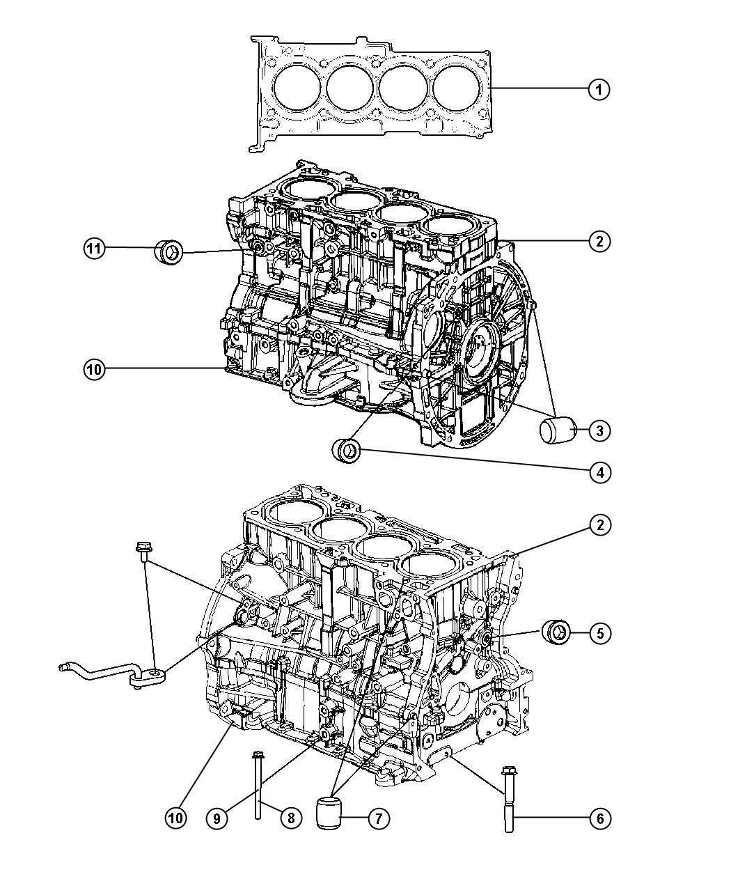 Dodge Caliber Bolt Hex Flange Head M10x1 25x76 50