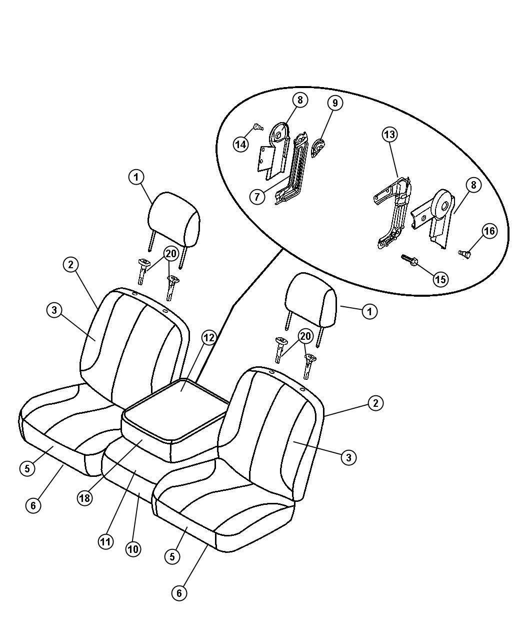 Dodge Cover Front Seat Cushion Left D5 Trim