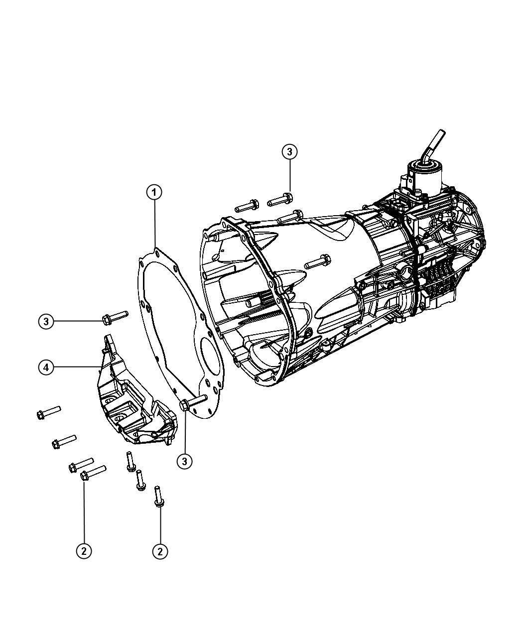 Jeep Wrangler Shield Spacer Clutch Housing Dust Dust