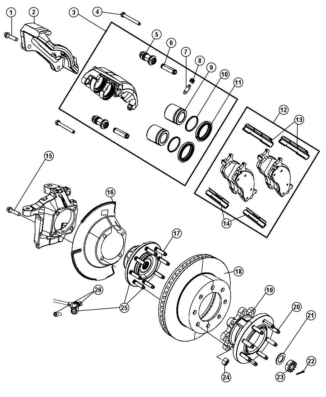 Dodge Ram Bolt Hex Flange Head Locking M16x2