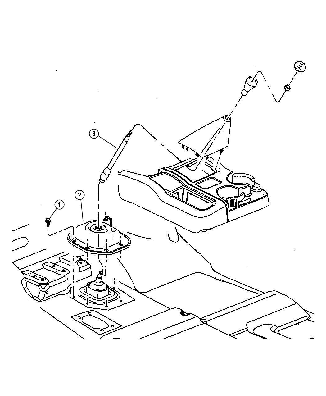 Dodge Ram Lever Gearshift Manual Transmission Floor