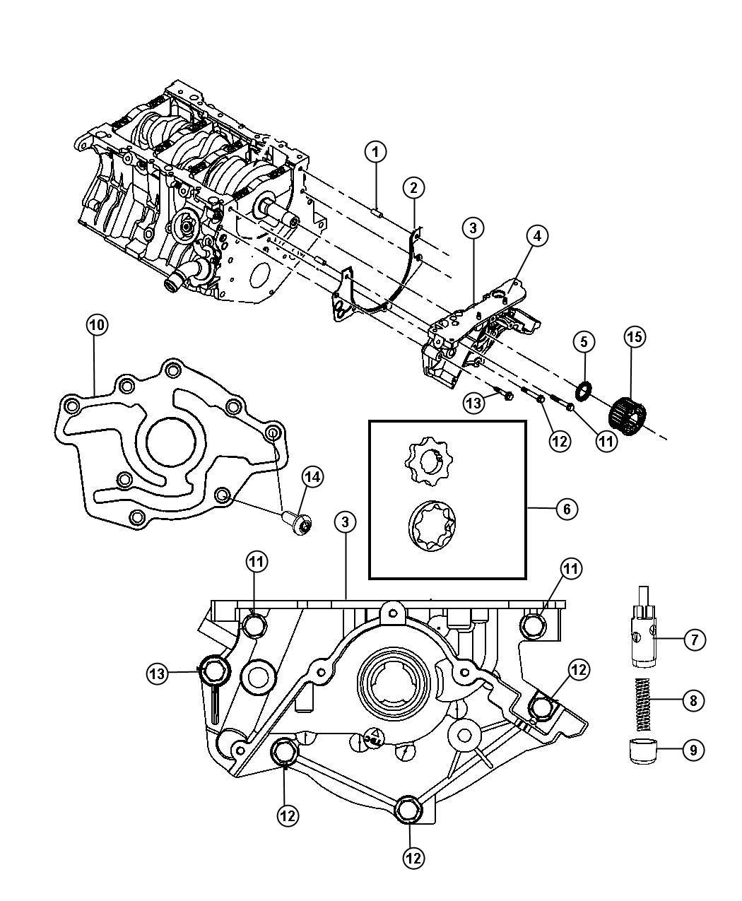 Chrysler Pacifica Engine Oiling Pump 4 0l 4 0l V6 Sohc