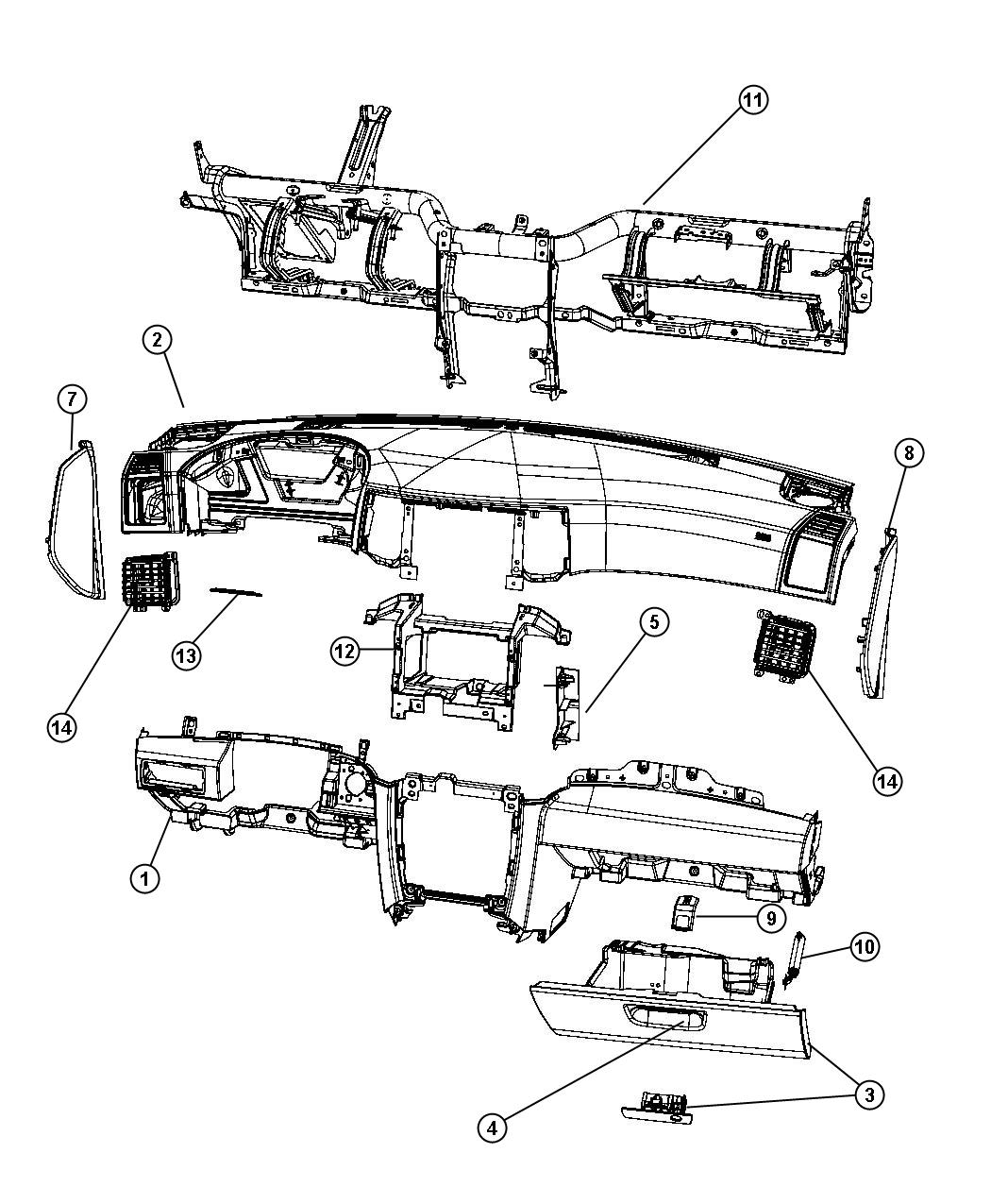 Jeep Grand Cherokee Bracket Radio Trim All Trim Codes