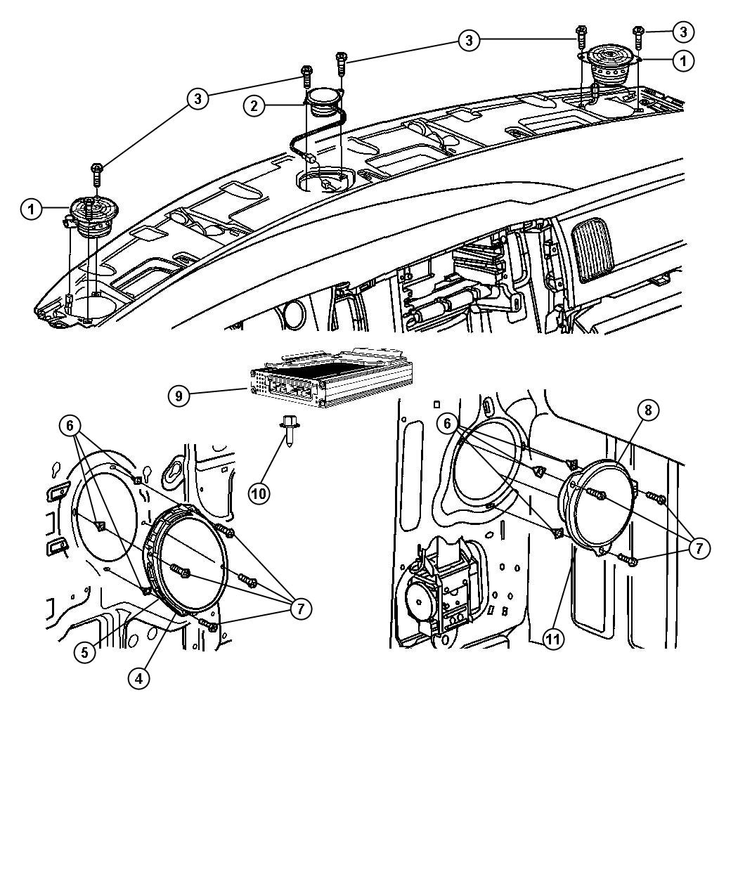 Dodge Ram Speaker 6 5 Rear Rear Door Infinity