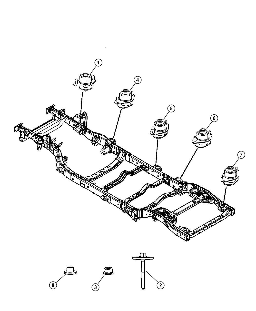 Jeep Wrangler Insulator Body Hold Down