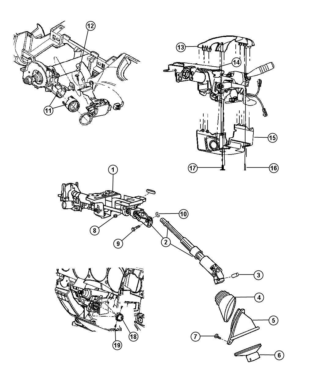Chrysler Pt Cruiser Shroud Steering Column Lower Ka