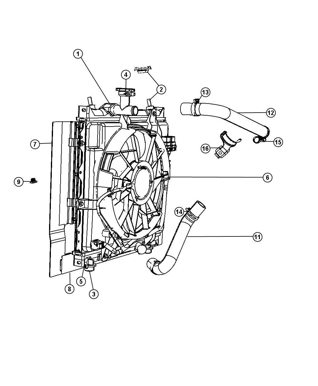 Chrysler Pt Cruiser Isolator Lower Upper Radiator