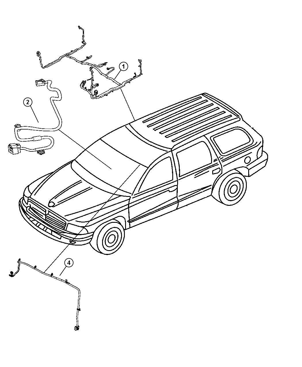 Dodge Durango Wiring Body Interior
