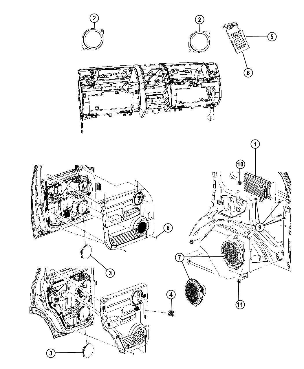 Jeep Liberty Bezel Instrument Panel Left Da Trim
