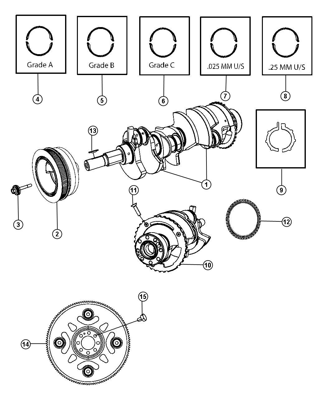 Dodge Bearing Kit Bearing Package Crankshaft C