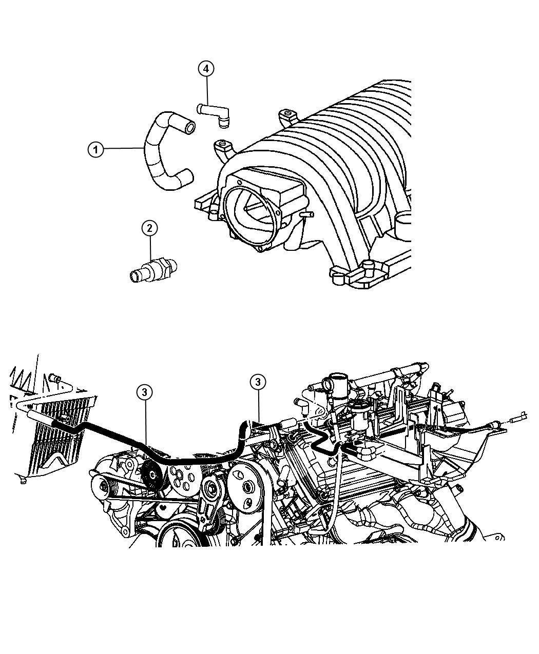 Jeep Grand Cherokee Hose Pcv Valve To Intake Manifold
