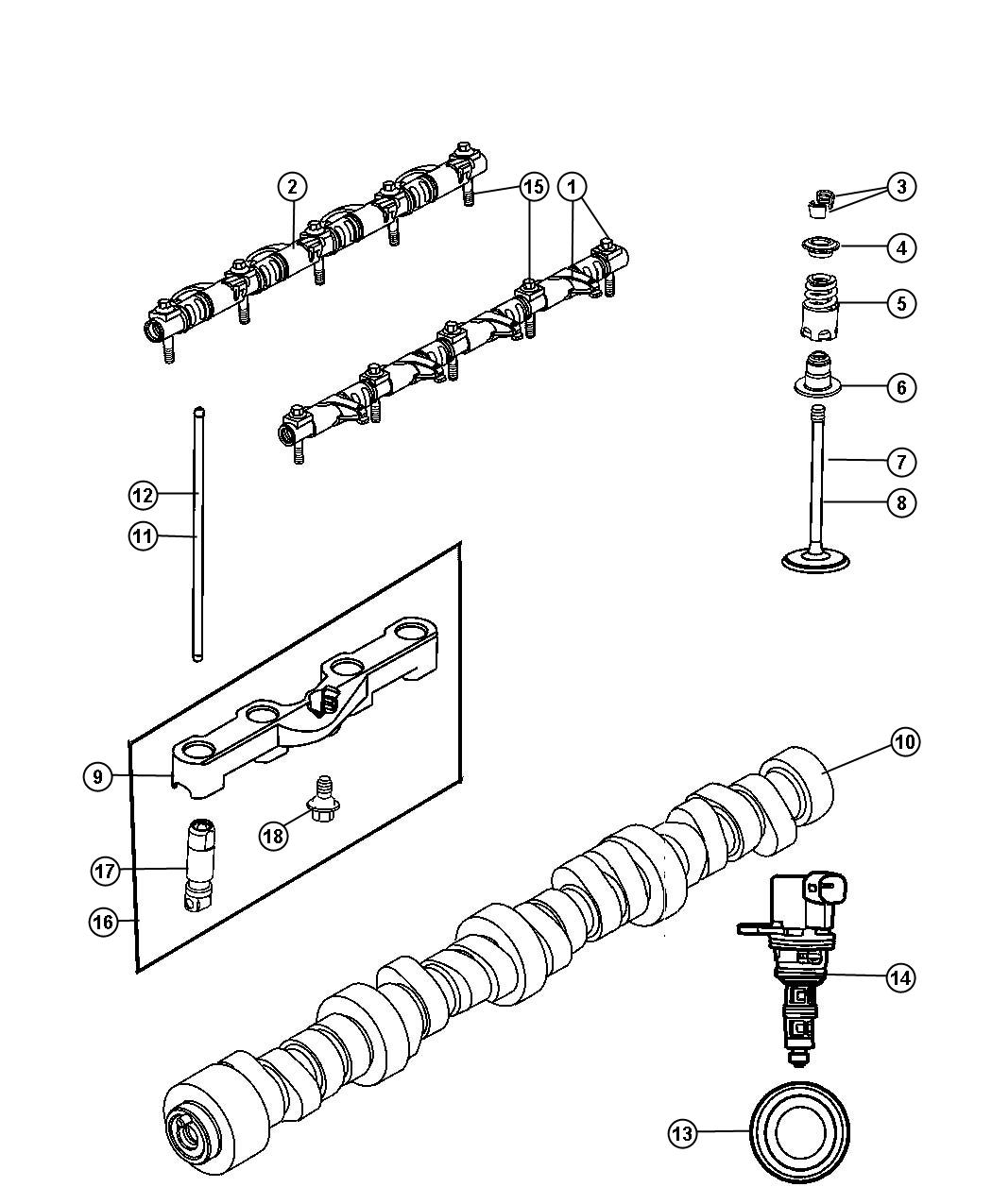 Dodge Magnum Lifters And Yoke Front Hydraulic Engine