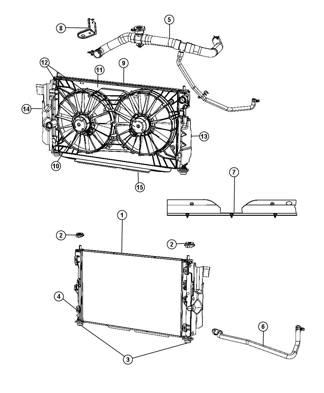 Jeep Compass Shroud Fan Modulemiddle Baffles