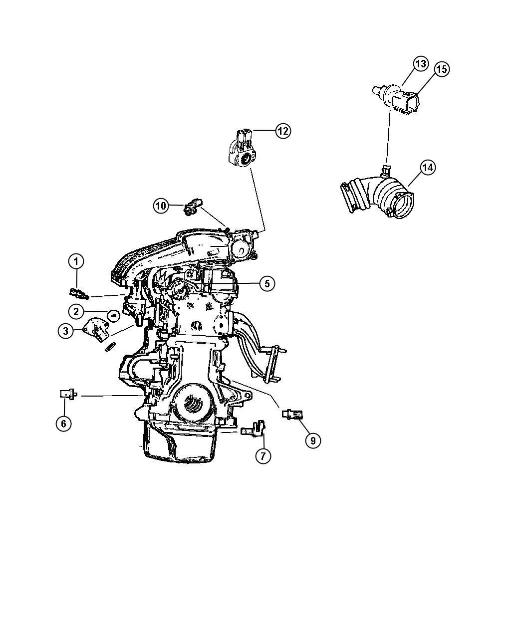 Chrysler Sensor Package Camshaft Iiinab