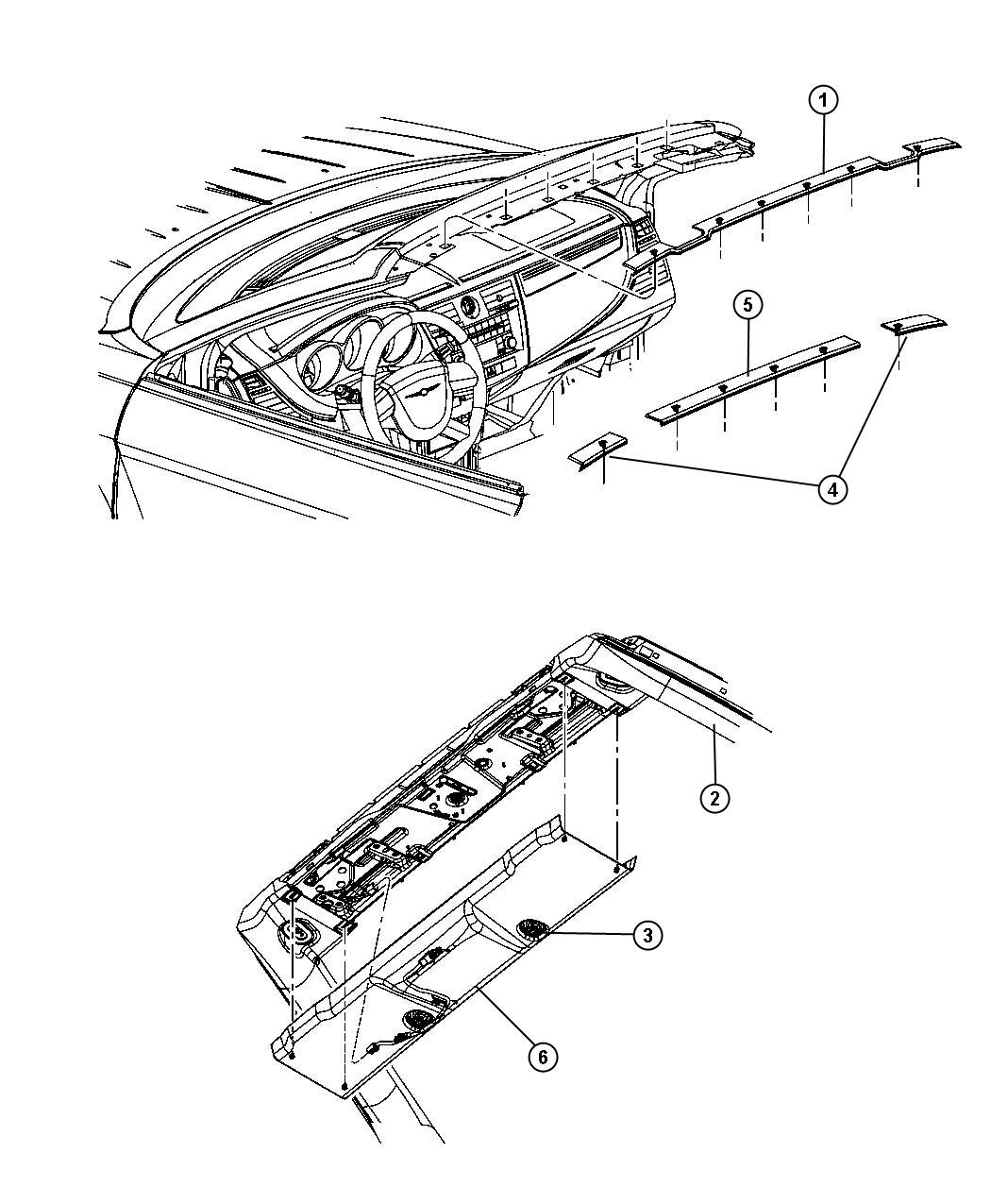 Chrysler Sebring Molding Wiring Jumper Windshield