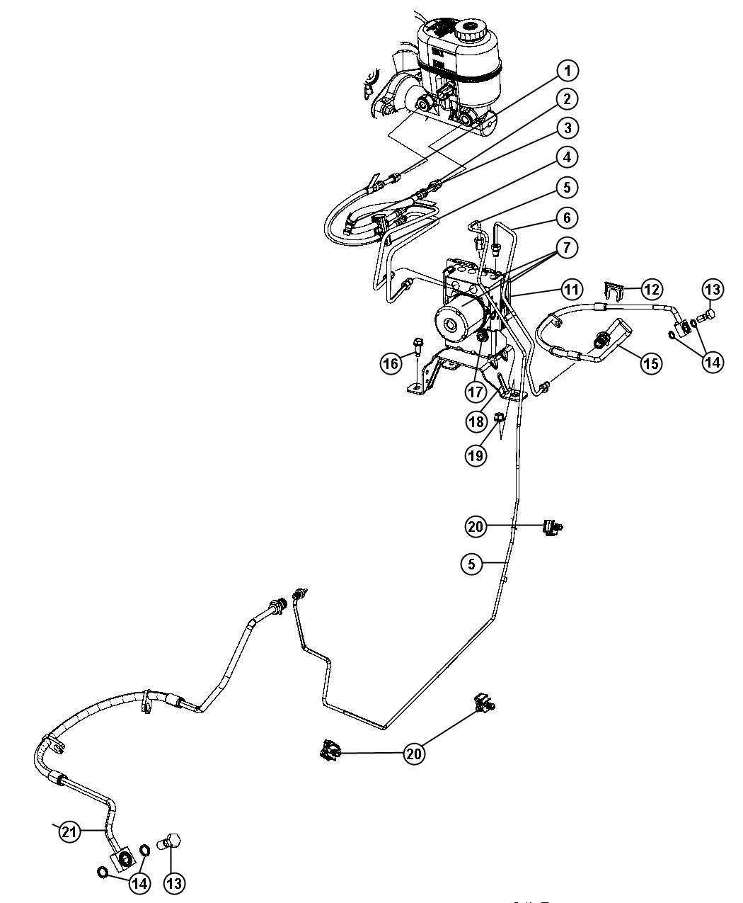 Dodge Durango Module Anti Lock Brake System Anti Lock 4