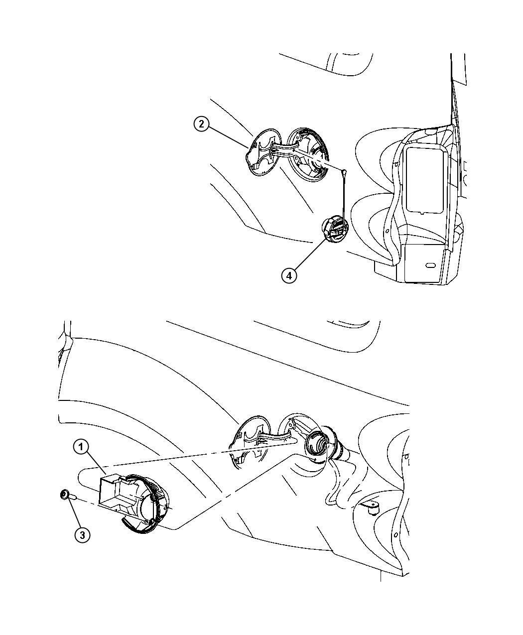 Jeep Grand Cherokee Cap Fuel Filler Capflexible