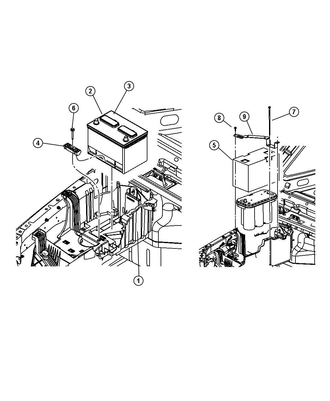 Jeep Wrangler Battery Storage Europe Export 825 Amp