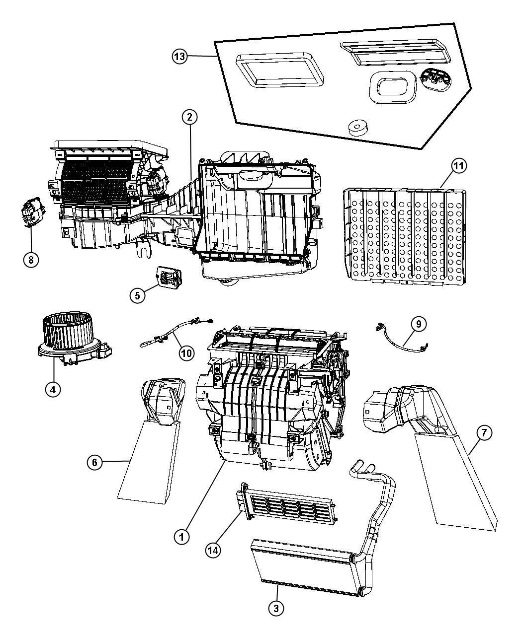 Jeep Wrangler Housing Blower Motor