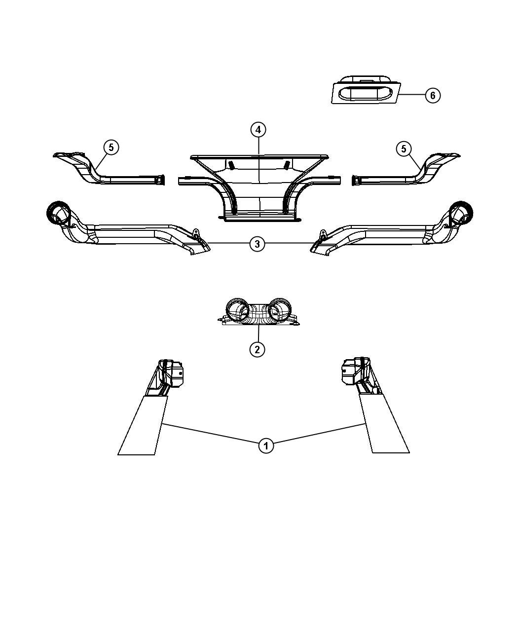 Jeep Wrangler Duct Defroster Trim All Trim Codes