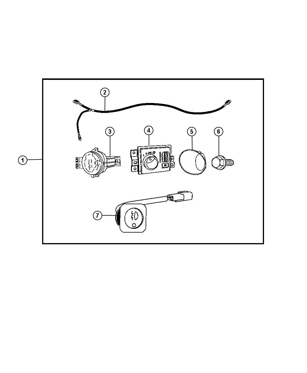 Dodge Ram Switch Fog Lamp Kitfog