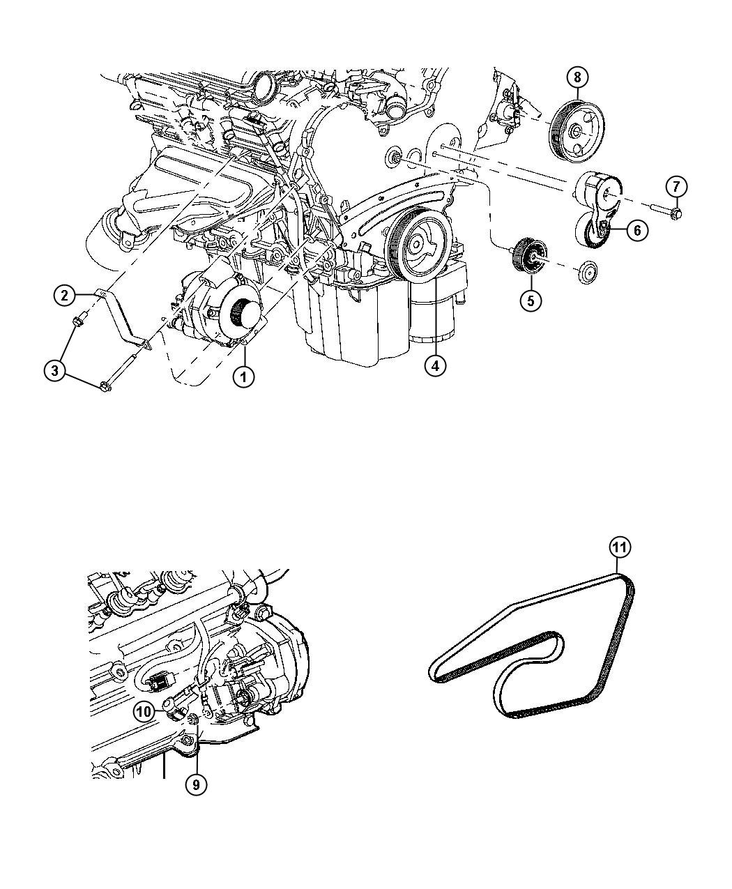Dodge Tensioner Belt Crank