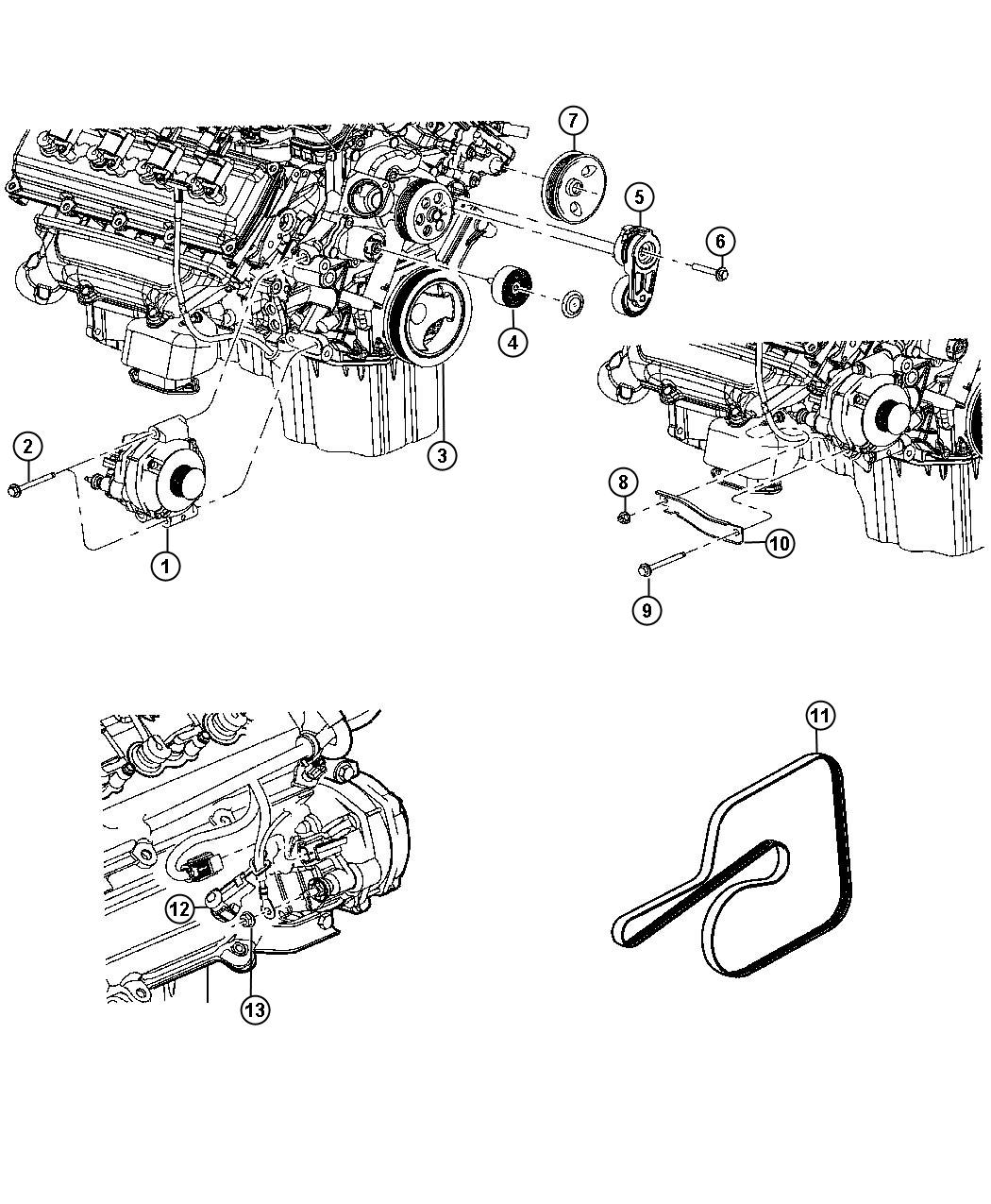 Chrysler Alternator Generator Engine Bae