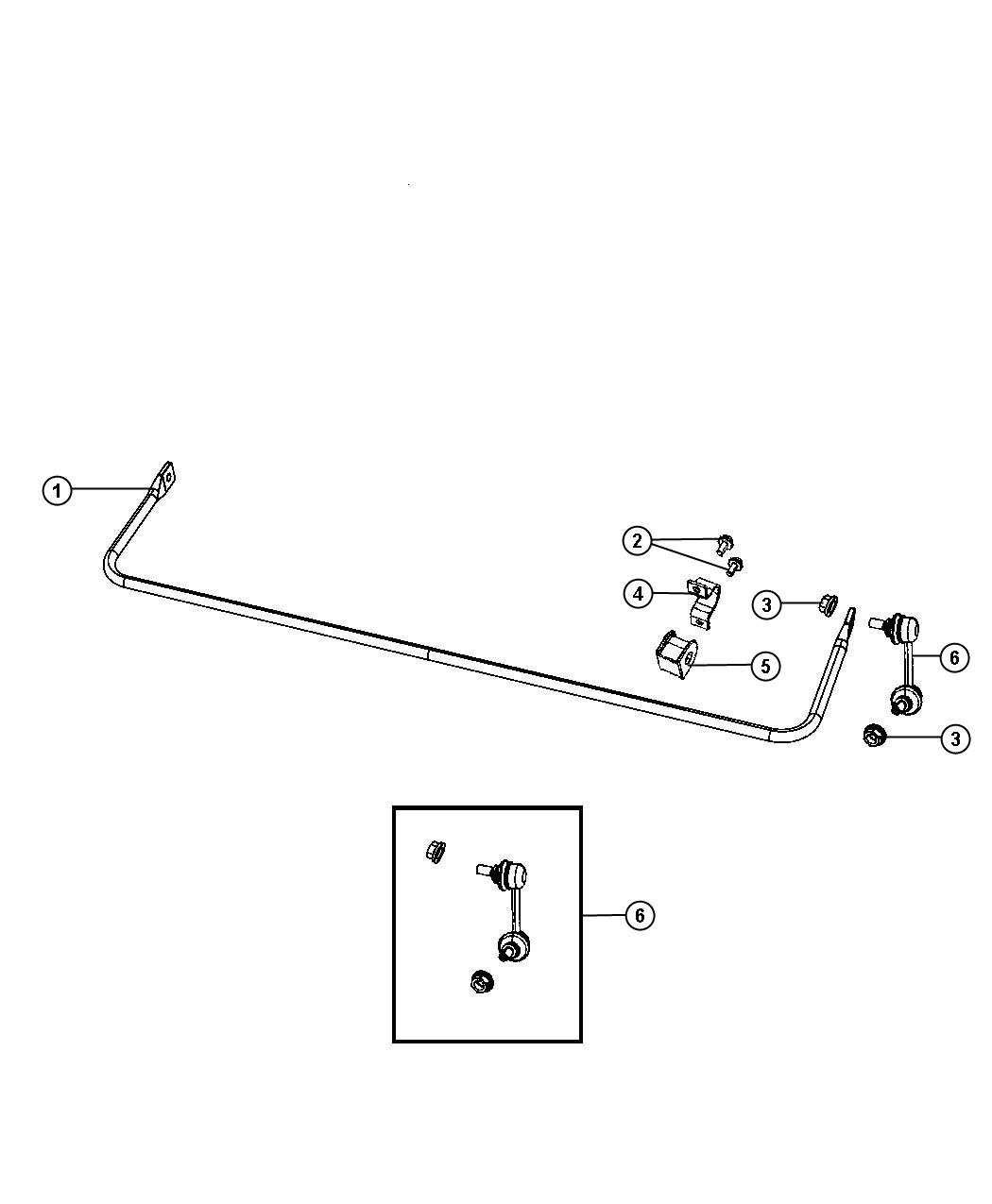 Dodge Caliber Stabilizer Bar Rear Suspension Sdc