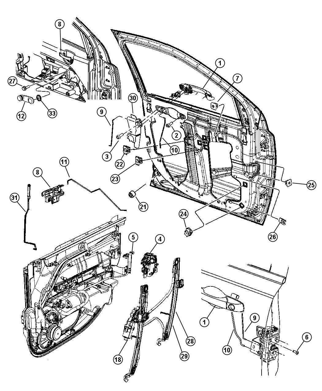 Jeep Patriot Regulator Right Export Trim All Trim