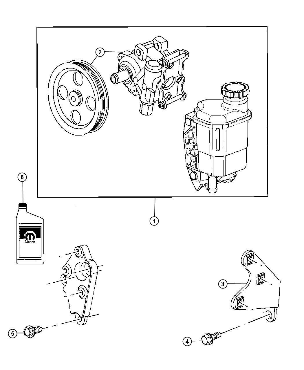 Dodge Ram Bracket Power Steering Pump