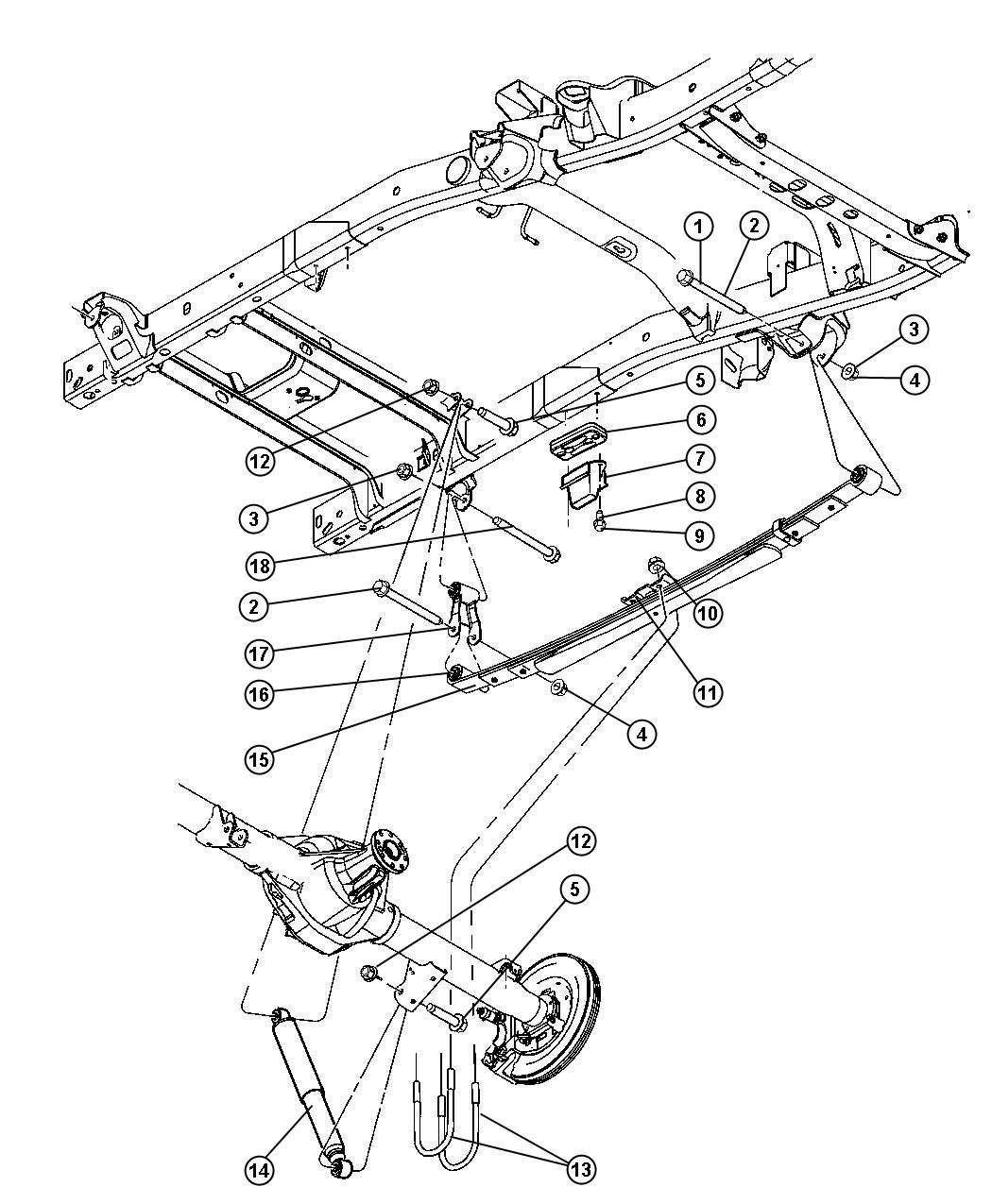 Dodge Shock Absorber Suspension Rear Rear Heavy