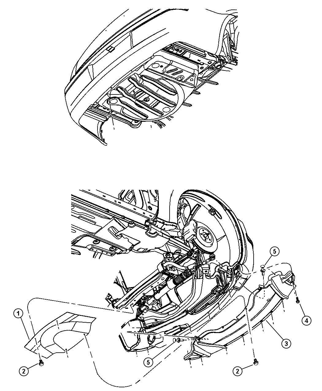 Dodge Challenger Belly Pan Front Skidplates