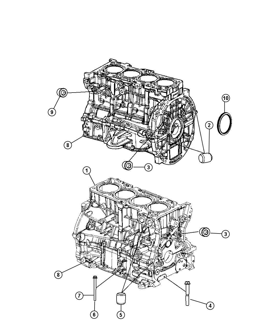 Dodge Avenger Engine Short Block With Nha Engine Oil