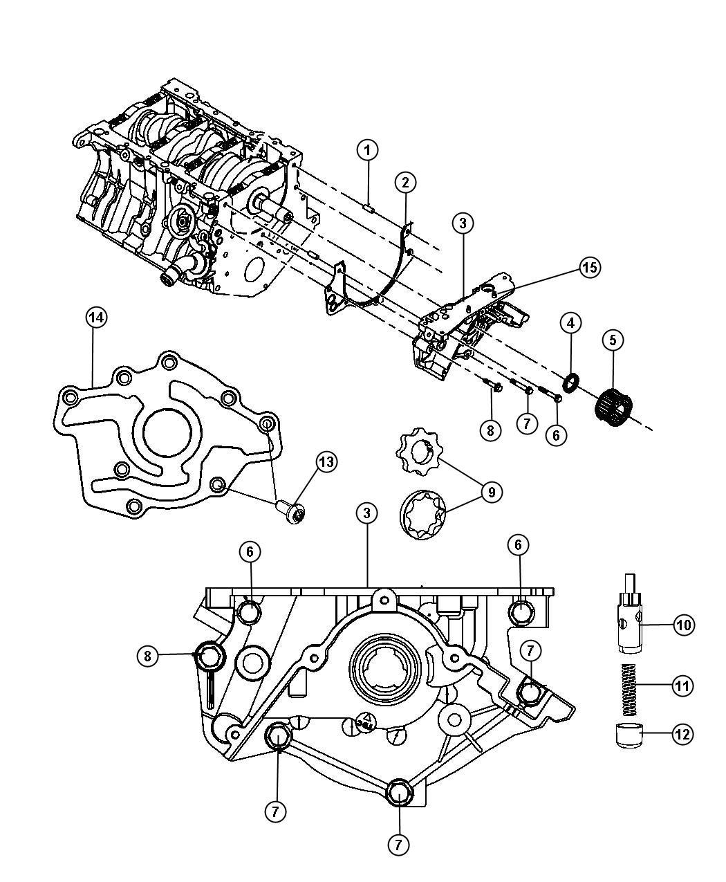 Chrysler Sebring Pump Engine Oil Complete Pump