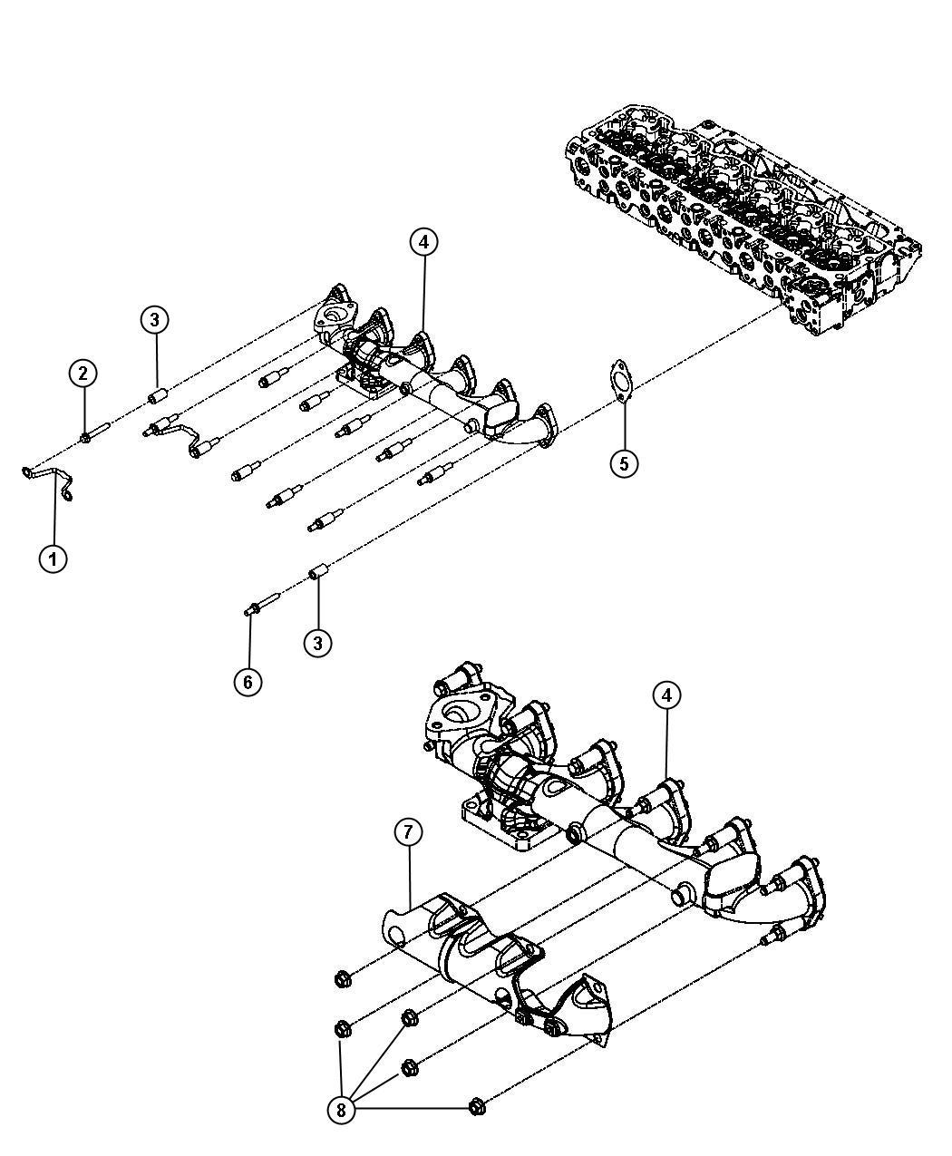 Dodge Ram Manifold Exhaust 50 State Emissions