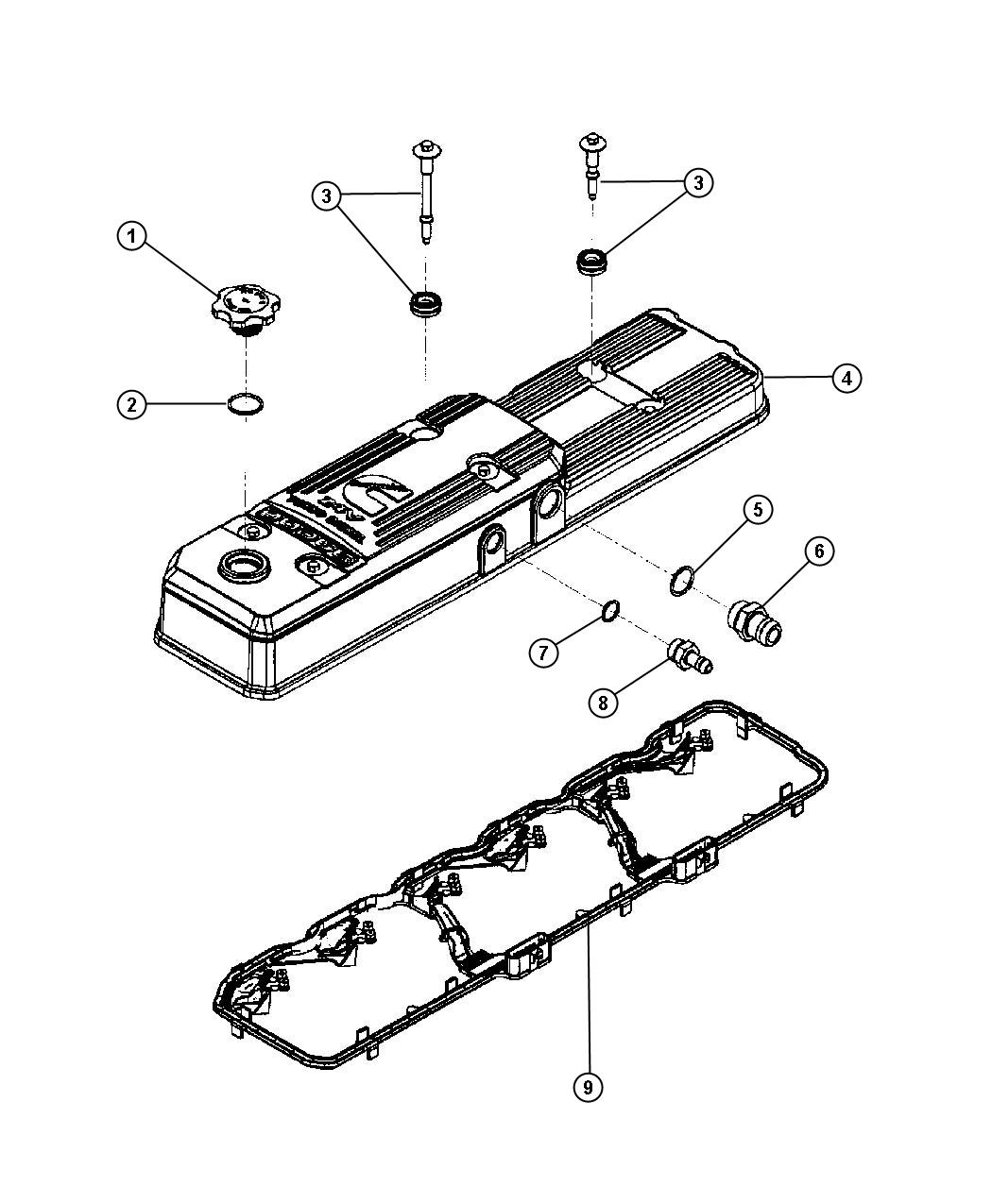 Dodge Ram Isolator Valve Cover With Long