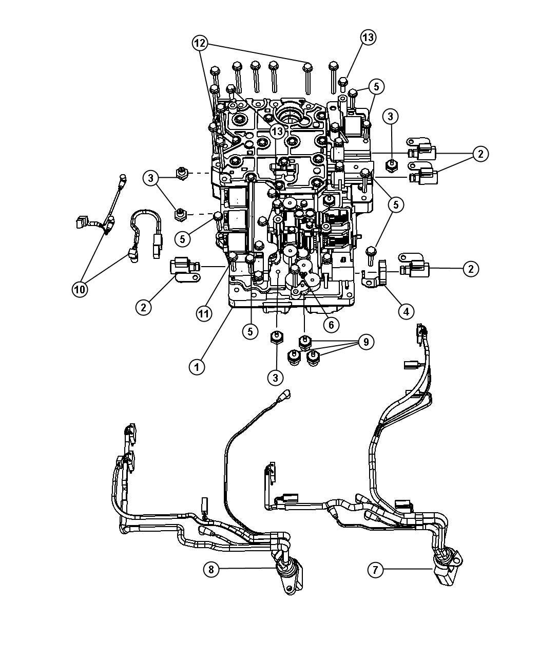 Dodge Ram Harness Wiring Transmission 10 Pin
