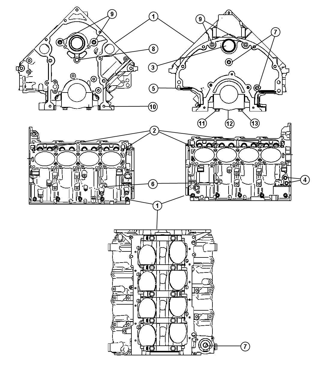 Chrysler Aspen Pin Dowel M8x10 00 Front Cover To Block