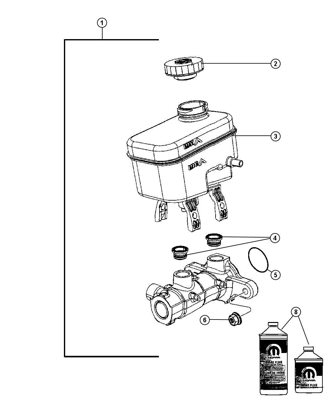 Jeep Wrangler Master Cylinder Brake Brw