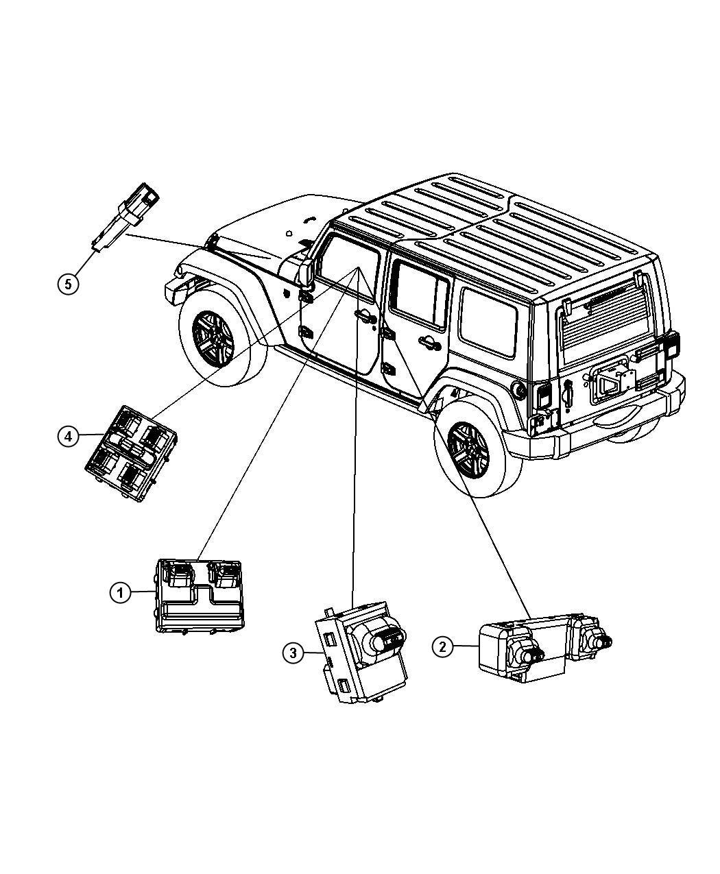 Jeep Wrangler Switch Door Lock Full Metal Doors W Roll