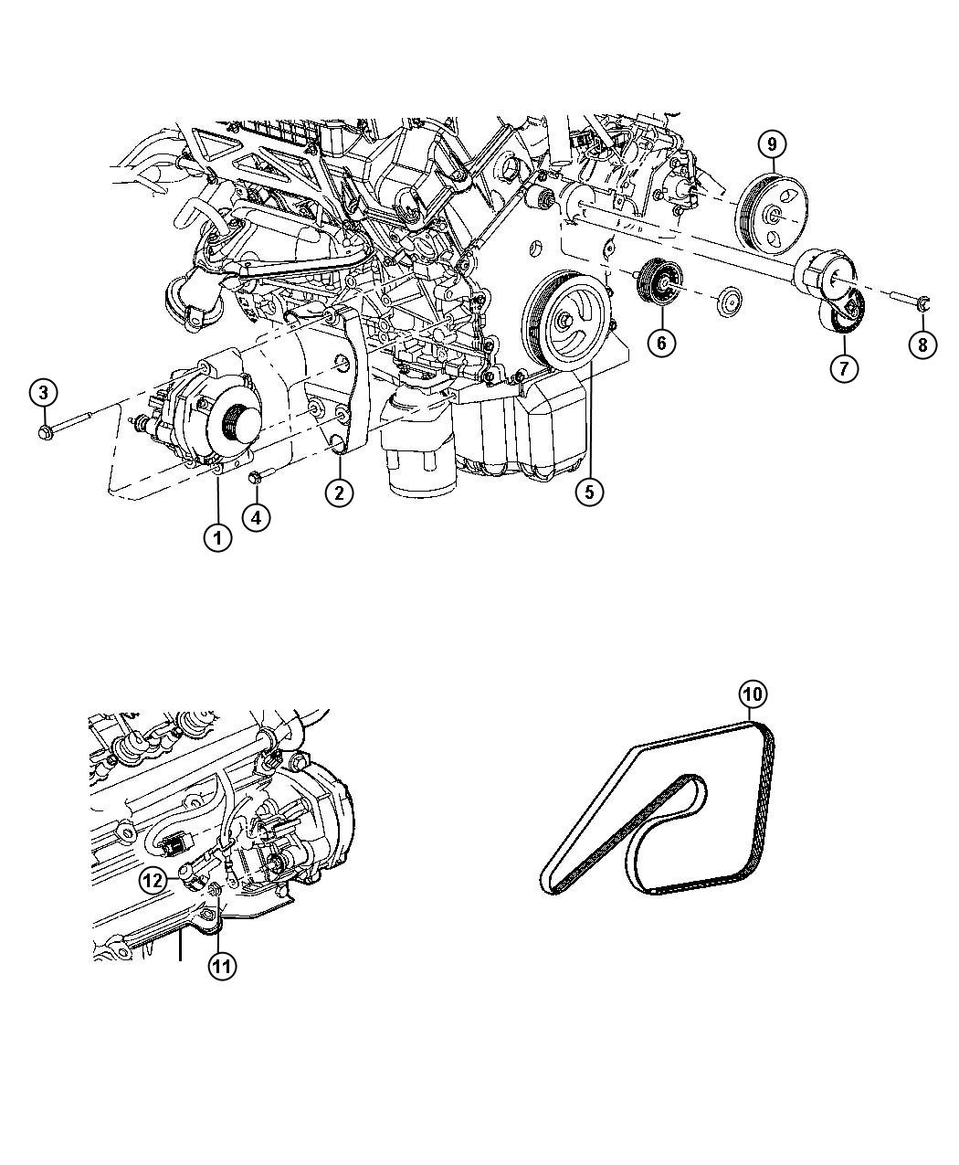 Chrysler 300 Generator Engine 140 Amp Alternator