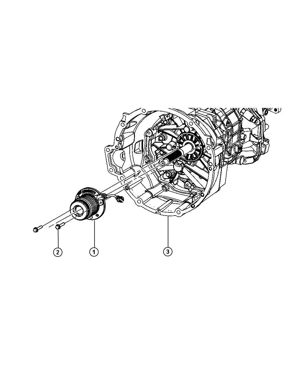 Dodge Actuator Assembly Clutch Concentric Slave