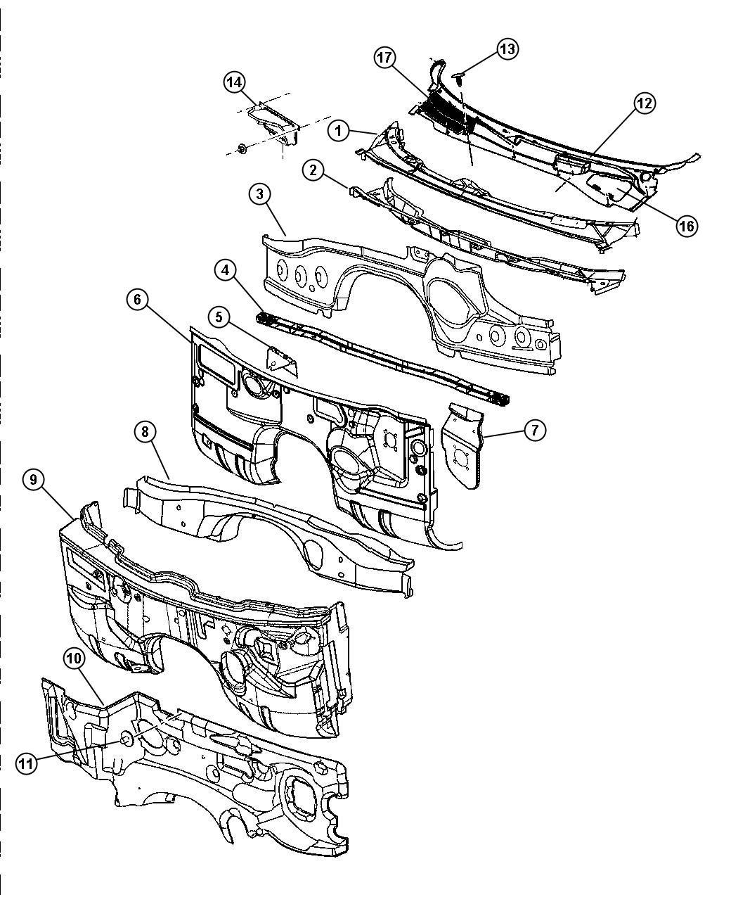 Dodge Magnum Panel Dash