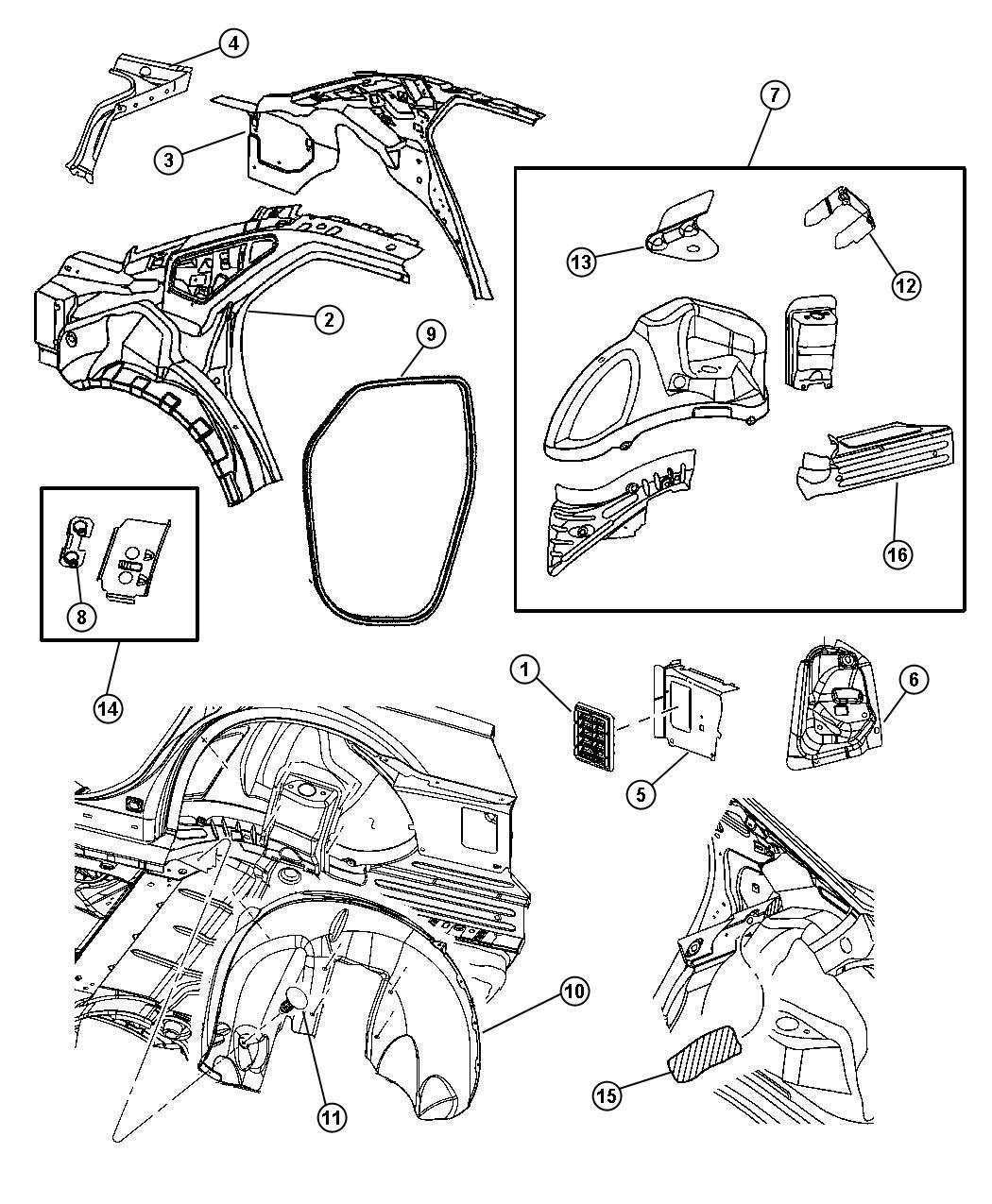 Dodge Pin Push In M8 X 1 25 X 20 Fascia Attaching Fascia To Quarter Panel