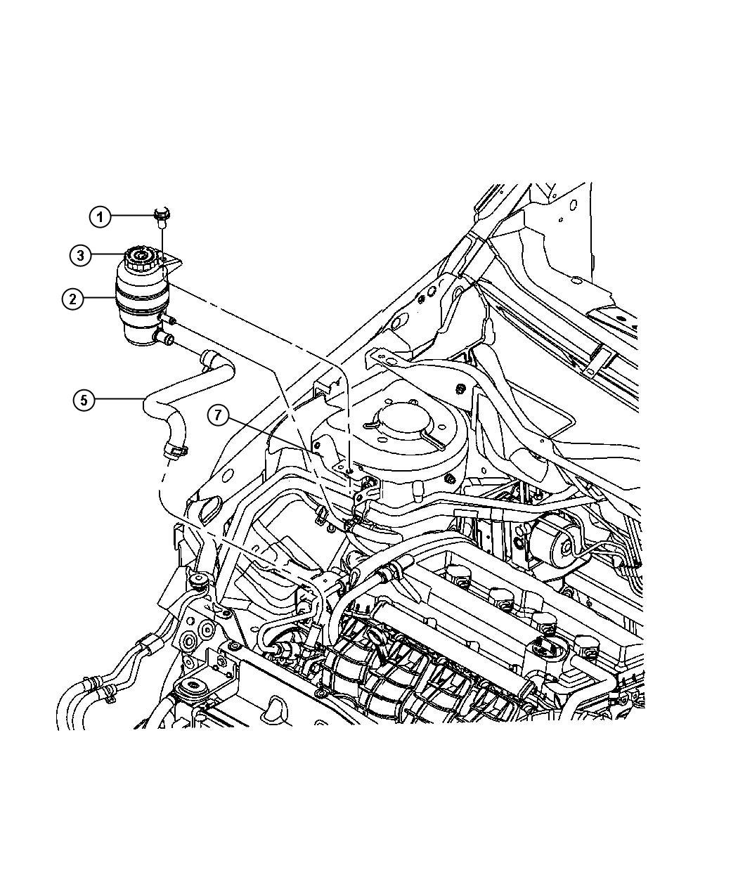 Jeep Patriot Reservoir Power Steering Fluid Power