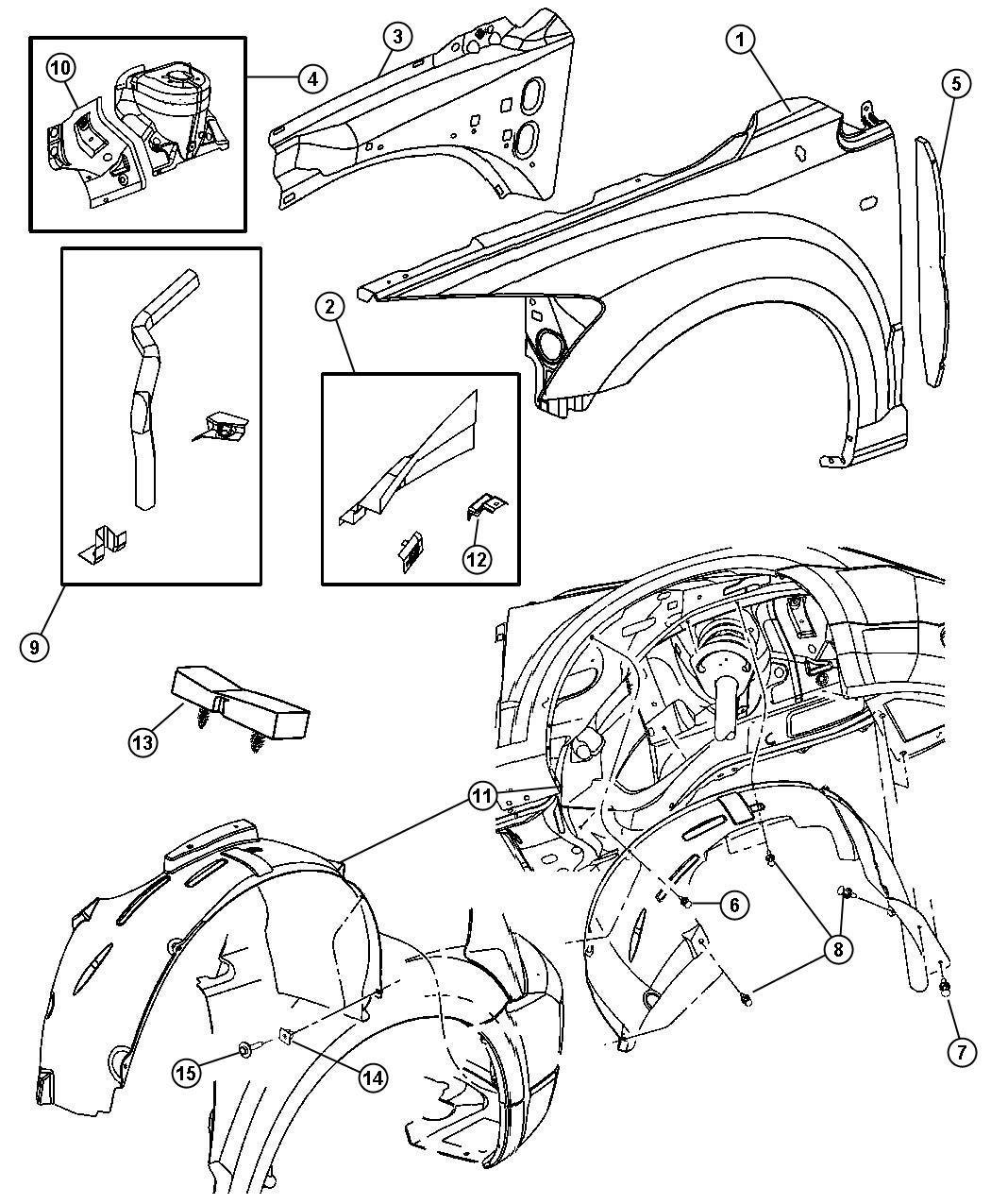 Dodge Charger Se 3 6l V6 Pin Push Pin M8x10 3 Left