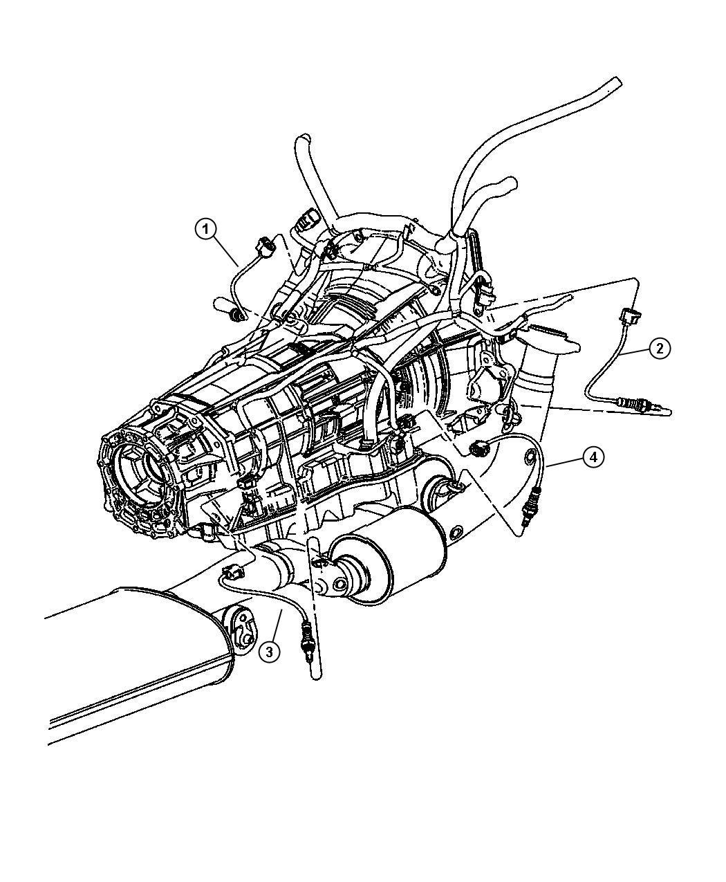 Jeep Wrangler X 3 8l V6 A T 4x4 Sensor Oxygen After