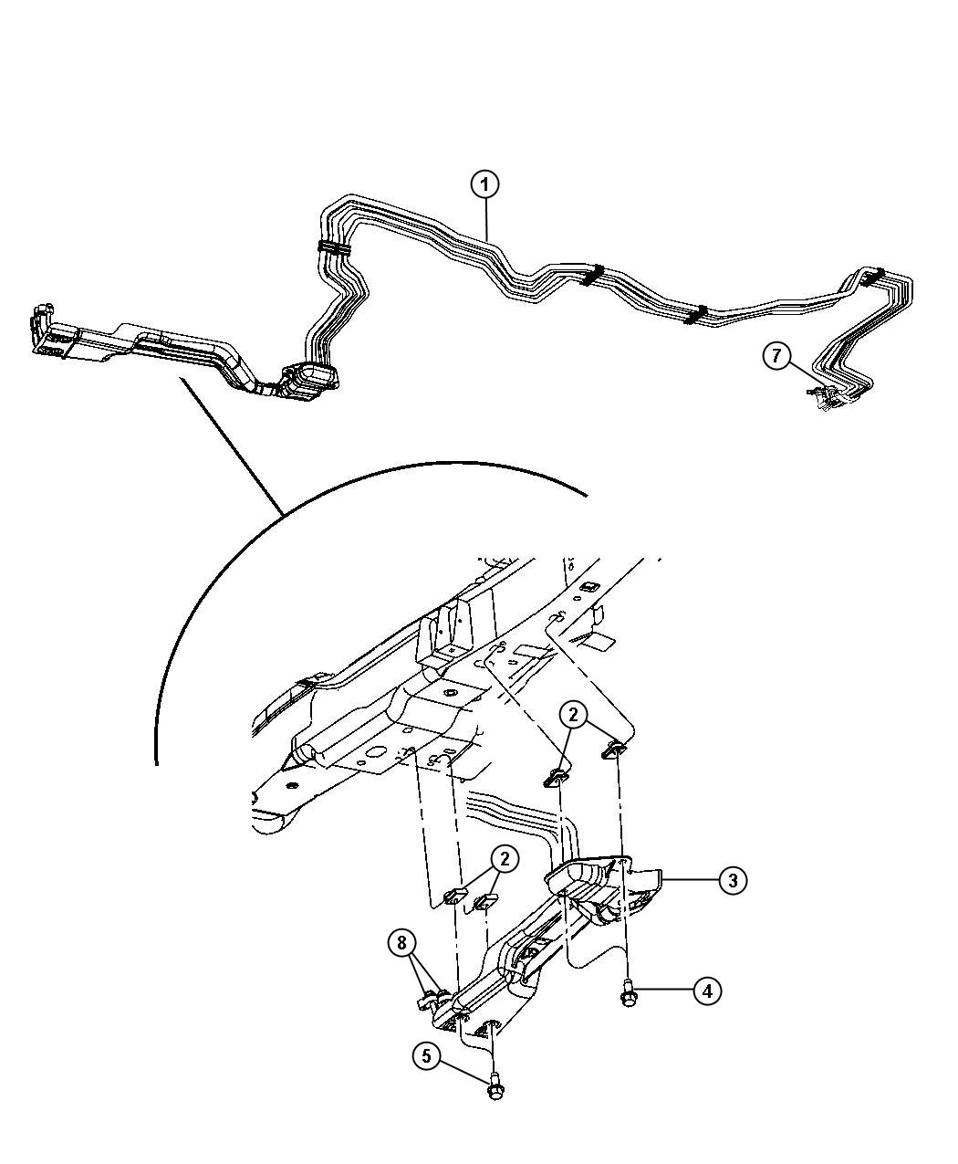 Jeep Commander Line Used For A C And Heater Underbody