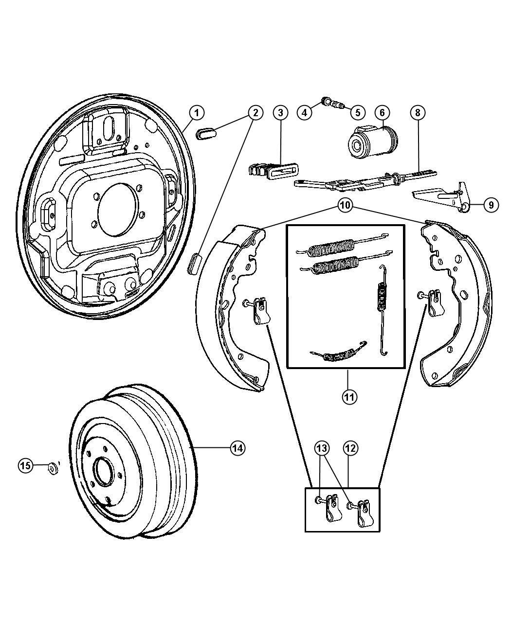 Ram Dakota Big Horn Used For Shoe And Lining Kit