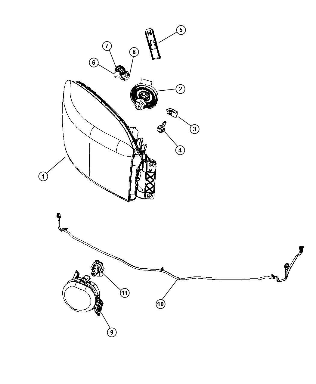 Dodge Ram Wiring Jumper Headlamp Left Right